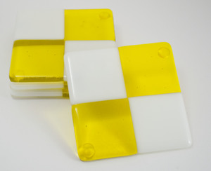 Thumb yellow white square coasters 1